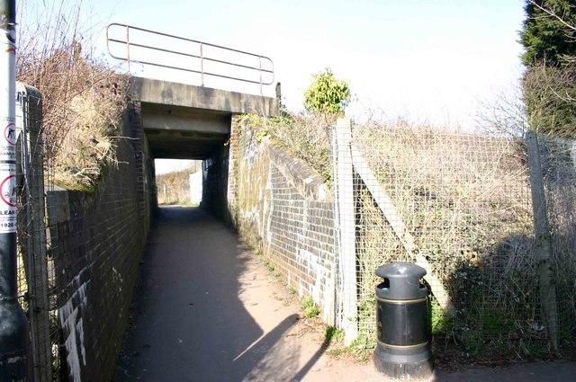 Footpath under the railway, Milverton