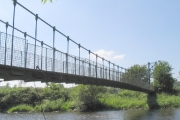 Footbridge on River Amman at Pantyffynnon