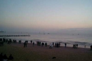 "Lowestoft Beach - ""Sunrise Coast"" on the dawn of the millennium"