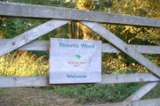 Entrance to the Woodland Trust's Ricketts Wood