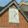 Sundial on church at Charlwood