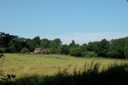 Privett station and farmland.