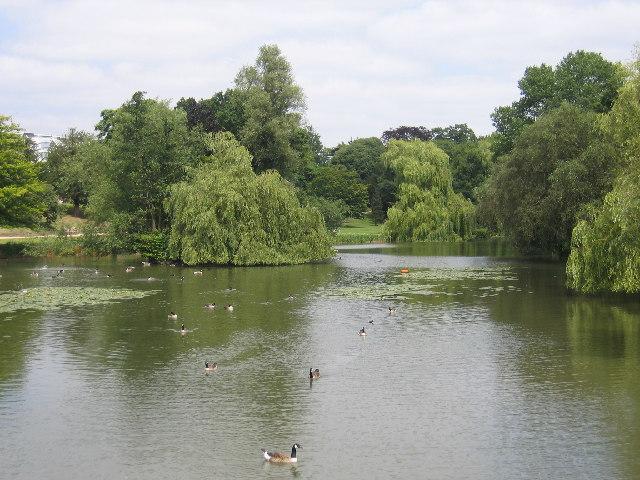 River Leam and the Jephson Gardens, Royal Leamington Spa