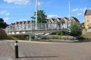 Pedestrian footbridge  at Apsley