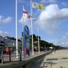 Flags at Sandbanks beach, Poole Head