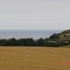 View of farmland towards Prestatyn and the coast