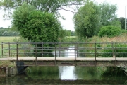 Bridge ove River Purwell into Walsworth Common.