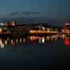 Bristol Floating Harbour by night.