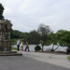 Fountain at south end of Sefton Park Lake