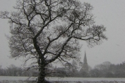 All Saint's church, Harby, Notts. from Ox Pasture drain