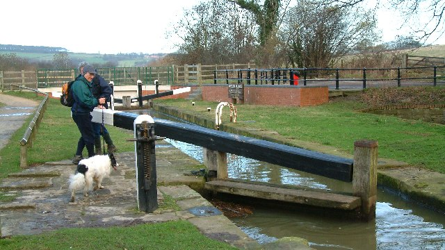 Restored lock gates on the Chesterfield Canal