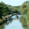 Narrow boats at Watermead Country Park