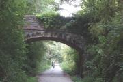 Road bridge over the Camel Trail, near Tregunna