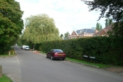 Junction of Prince's Drive (ahead), Furze Field (left) and Birds Hill Drive (right)