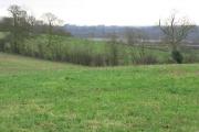 Farmland, with Uxbridge on the horizon