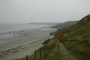 Track down to Traeth Penllech on a misty day!