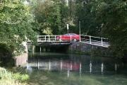 Weak bridge over River Itchen at Brambridge