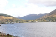 From the A83 looking to Arrochar at the head of Loch Long.