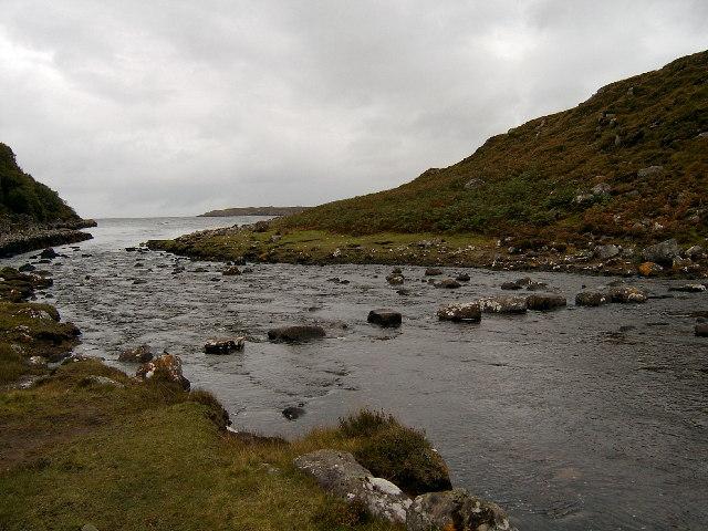 Stepping stones at Cuaig