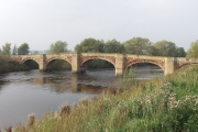 Sandstone bridge over Afon Dyfrdwy at Bangor-is-y-coed