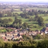 View east from the tower on St Michael's Hill, Montacute