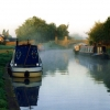 Dawn mist on the Trent & Mersey canal at Willington