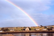View of Aultbea with rainbow. 1999