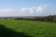 Farmland overlooking the  St Austell River Valley