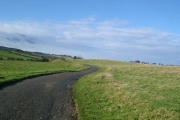 Road beside Fenham Burn, Northumberland