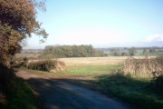 View across fields from Pump House Lane,Sibton
