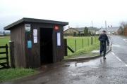 Bus stop in Chapelhill