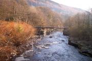 Disused railway bridge at Mount Pleasant