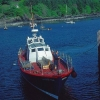 """Ferry Boat """"Shearwater"""" at old Pier, Armadale, Isle of Skye"""