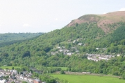Gwaelod-y-garth from across the valley