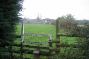 Looking across the fields to Moat Farm