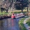 Canal boat on the Chesterfield Canal