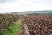Ploughed field at Over Burrows, Brailsford