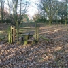 Stile On Footpath North to Tank Wood