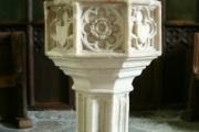 Font in St Dunstan's Church