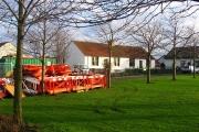 Roadworks suspended, Macmerry.
