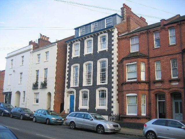 Mixture of building styles in Grove Street