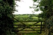 Farm gate at Gluvian