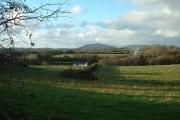 Farmland and Felin Fach house