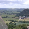 View of Beeston Castle from Peckforton Castle.