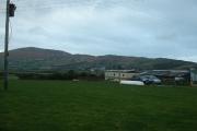 Farmland looking towards Mynydd Anelog