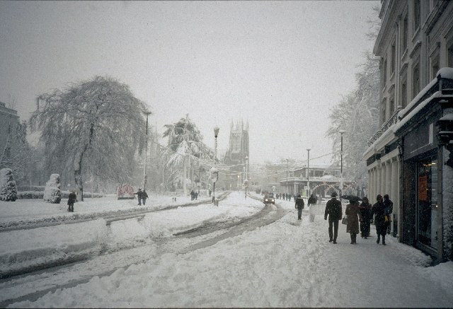 The Lower Parade under snow