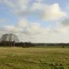 Looking across the field to Fluker's Brook Farm, Croxteth