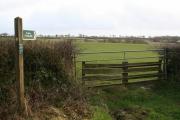 Washford Pyne: footpath sign