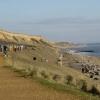 Cliffs and beach at Barton on Sea