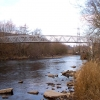Cycleway bridge on River Taff